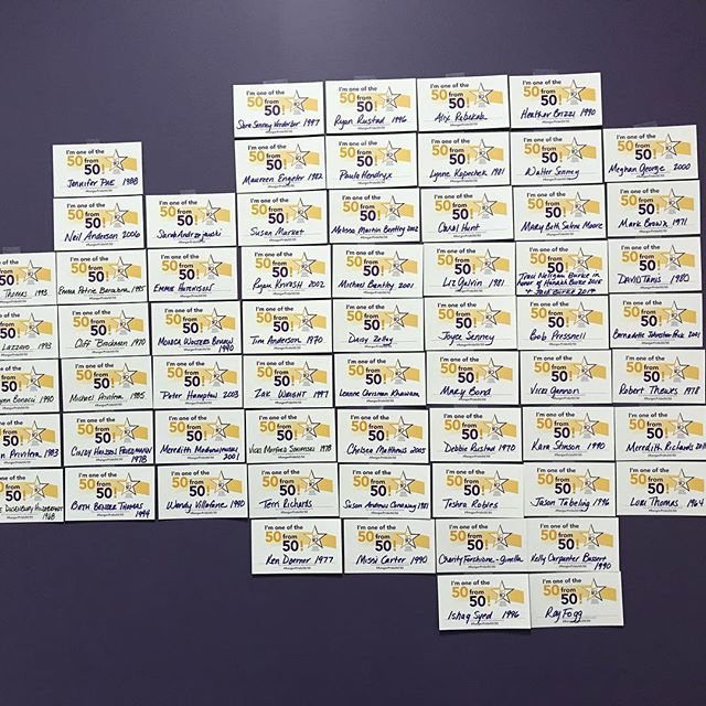 Our 50 FROM 50 wall is growing!  We need 50 alumni 50 grad classes at LHS to help us meet our goal!  Your gift provides opportunities for Lakewood students in academics, the arts, music, athletics and more. Join us by making your gift through our FB page or at www.lakewoodrangers.com/support-LREF/