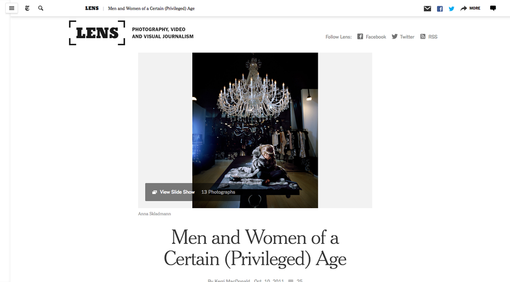2011 The New York Times - Men & Woman of a Certain (Privileged) Age