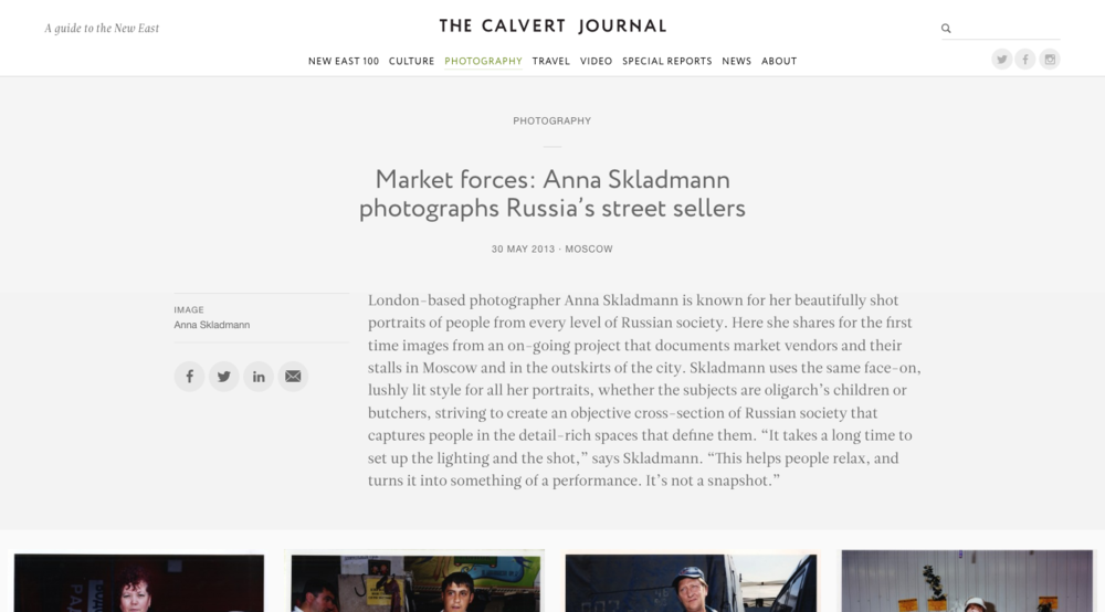 2013 Market forces: Anna Skladmann photographs Russia's street sellers