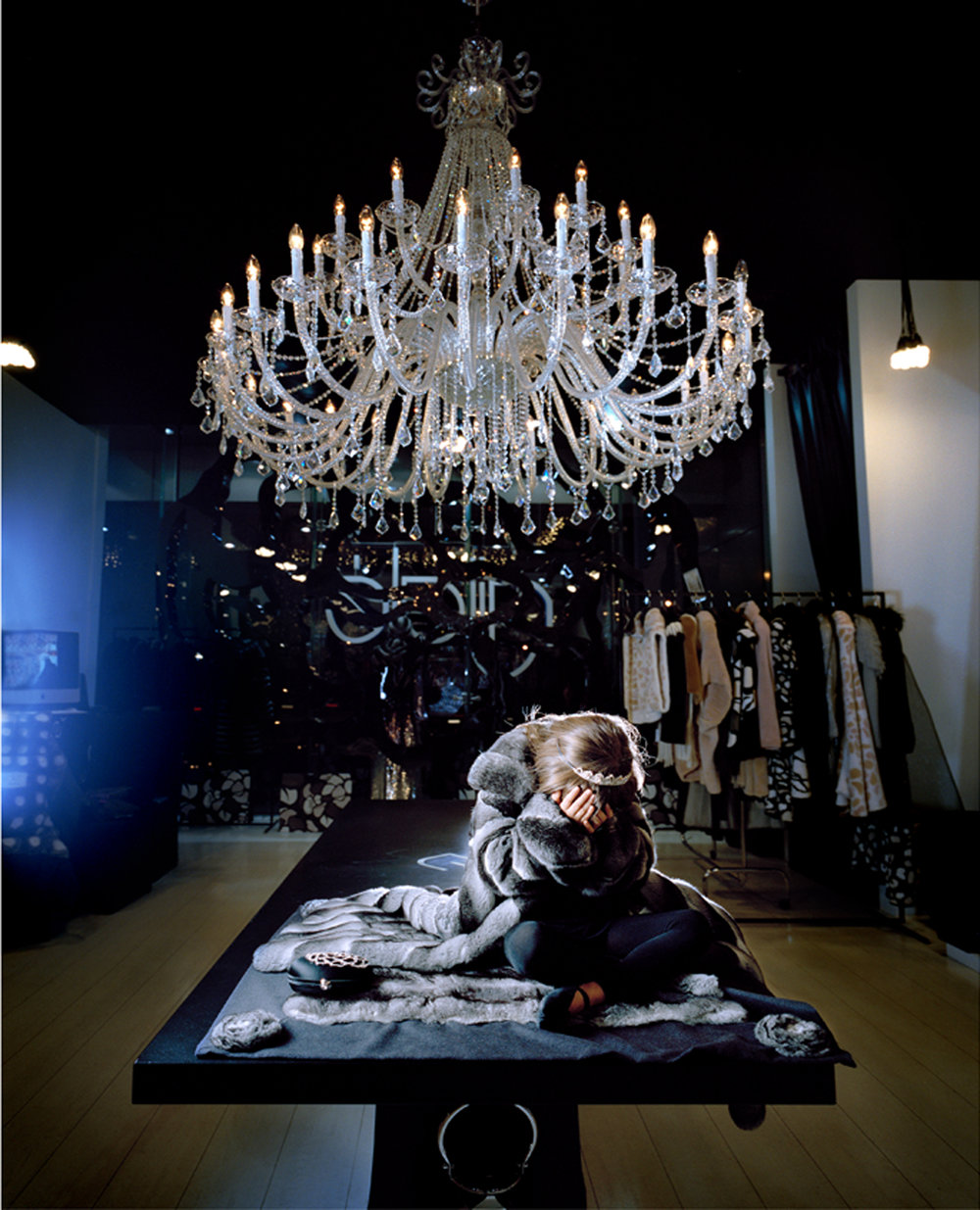 Alisia in Her Mother's Fur Store, Moscow 2009