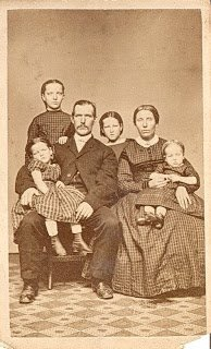 William Ferguson and family.  Mary Jane is the youngest in her mother's lap.