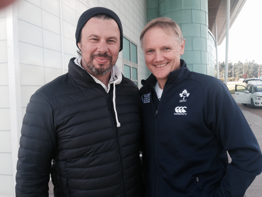 With Joe Schmidt the Irish Coach