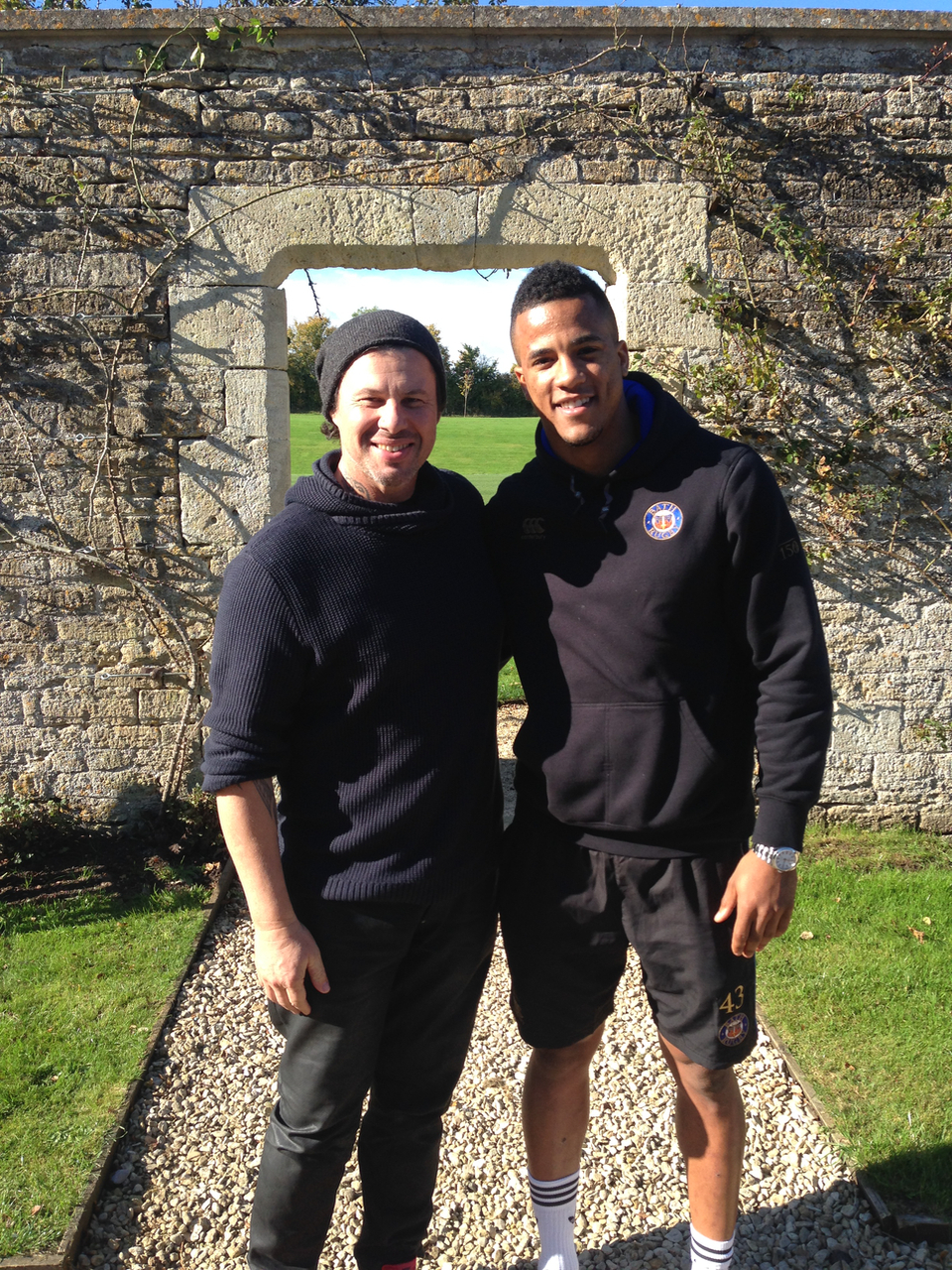 With Anthony Watson for Englang XV