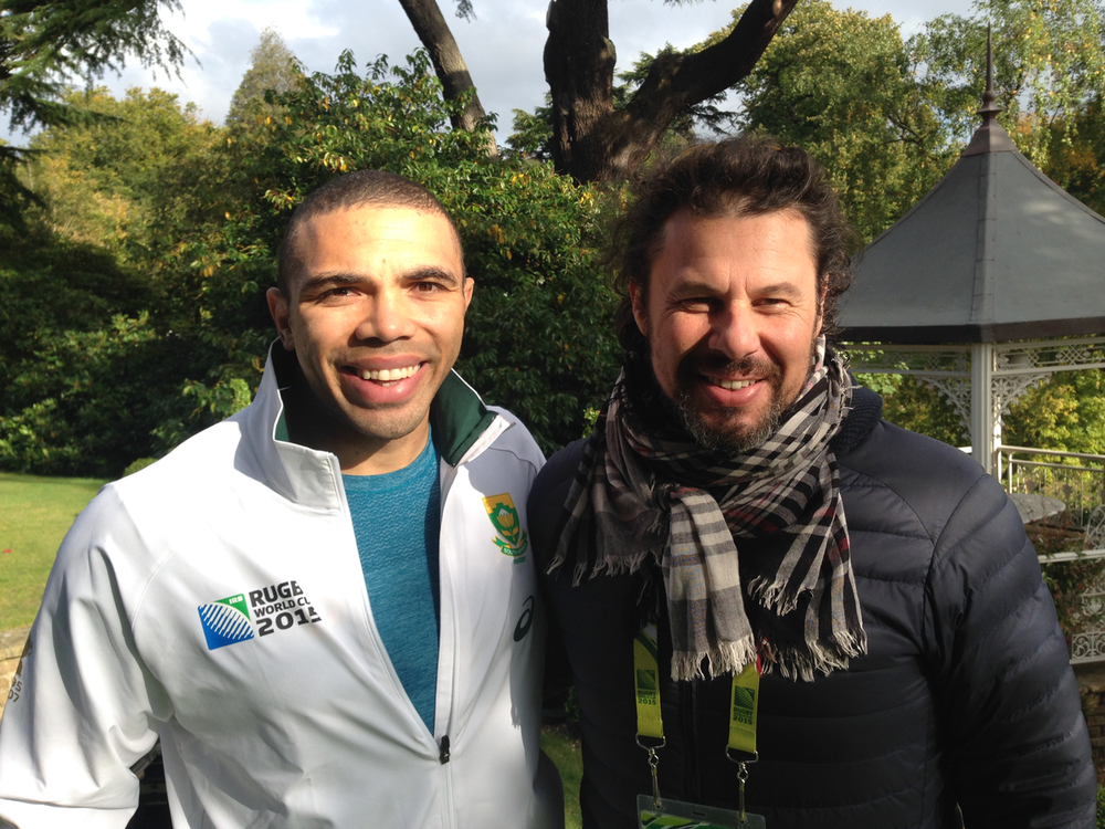 With Bryan Habana from the Springboks