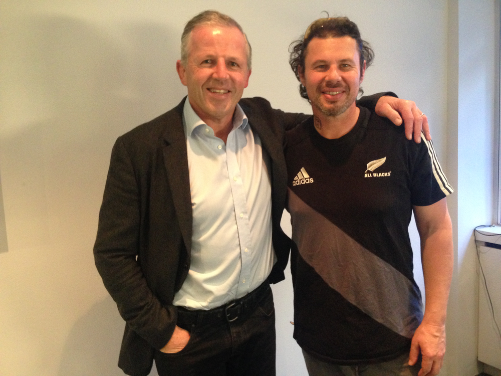 With Sean Fitzpatrick