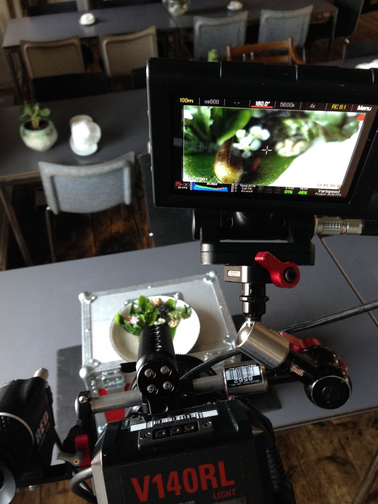 Filming a dish