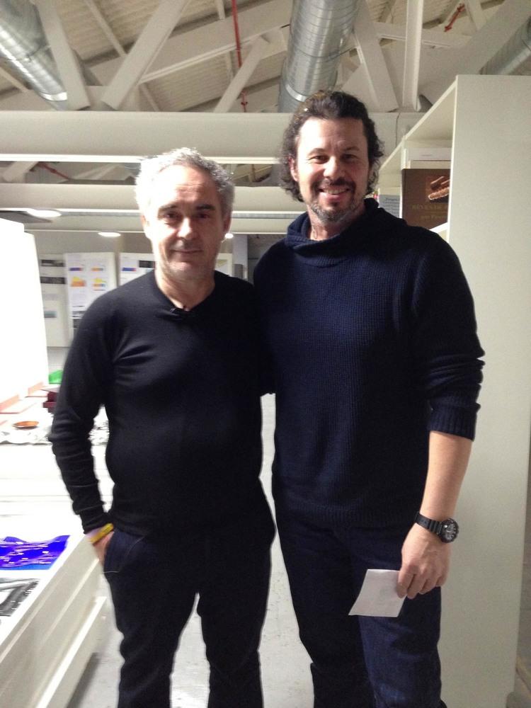 With Ferran Adria