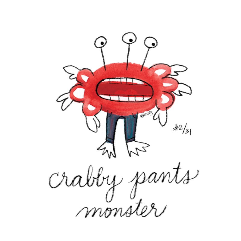 Crabby Pants Monster