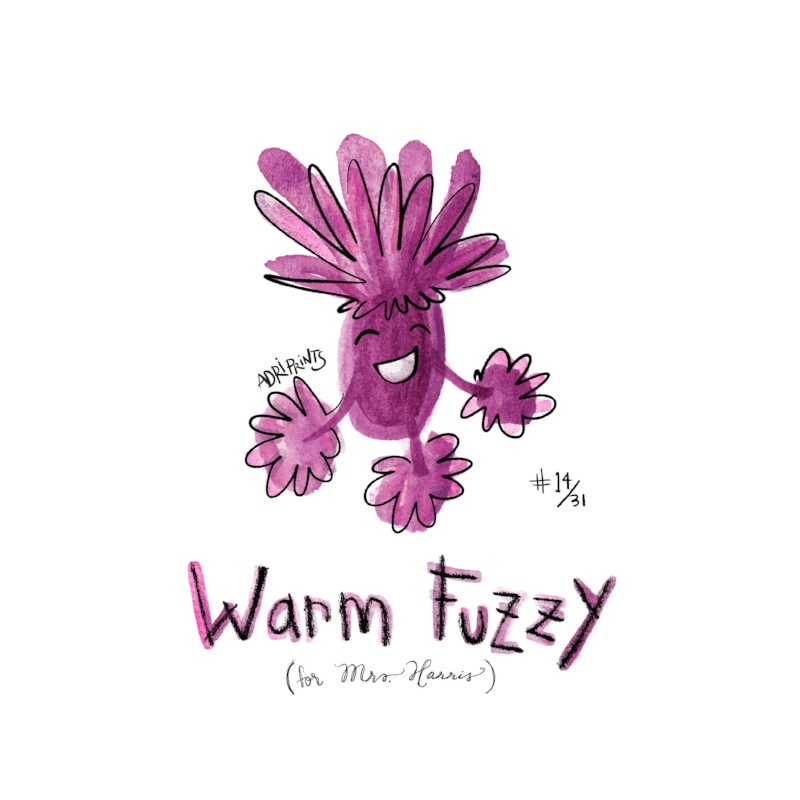 Fuzzy, squishy, smooshy, sweet Loveable, huggable, caring, neat. Life feels a whole lot better this way, with critters like Warm Fuzzies  to cheer up your day.