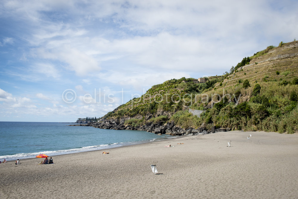 Empty beach, not touristic, on the island of Sao Miguel. Photo taken by Ellis Photography