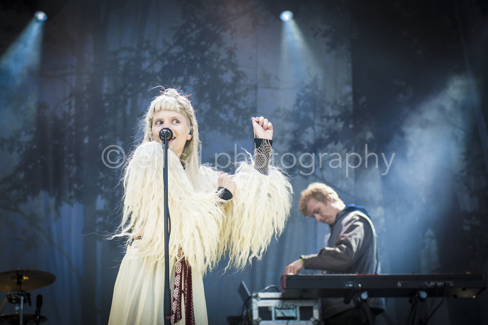 Singer Songwriter Aurora Aksnes on Træna Trena festvil. Talented young girl with a beautiful voice. Ellis Peeters Photography.