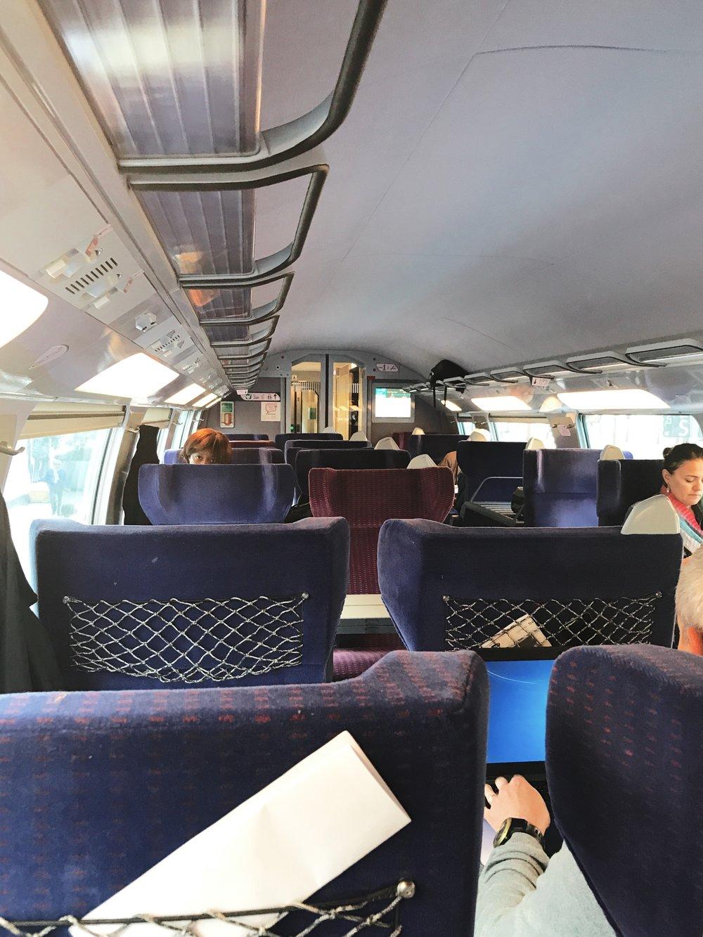 The train was surprisingly pretty empty!