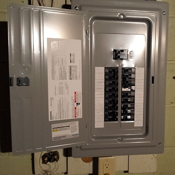 The Main breaker switch will be located in or on the box or meter.