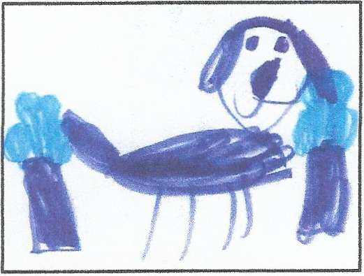The Dog Who Got Lost In The Woods,  by Sylvia Fox, Kindergartener