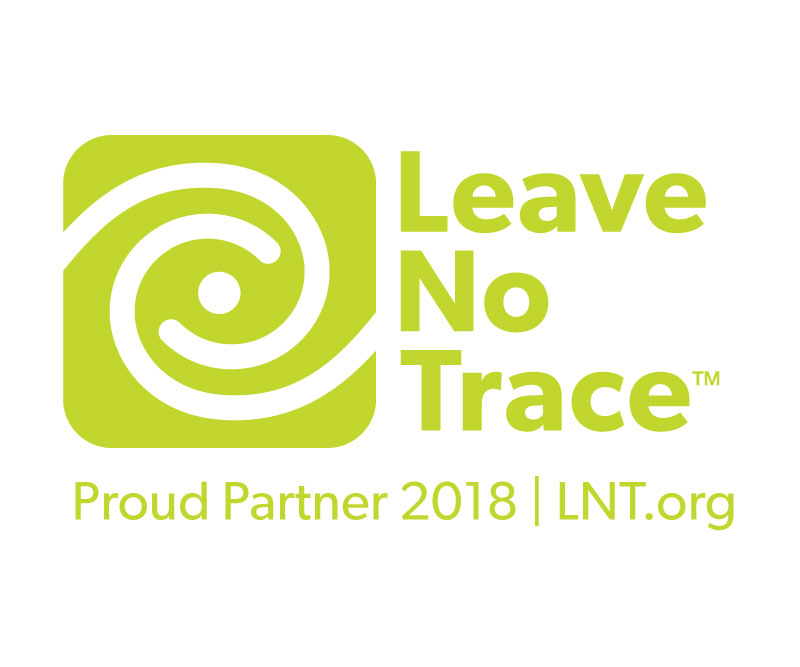 We donate a portion of our profits to the Leave No Trace Center for Outdoor Ethics as a Small Business Partner.
