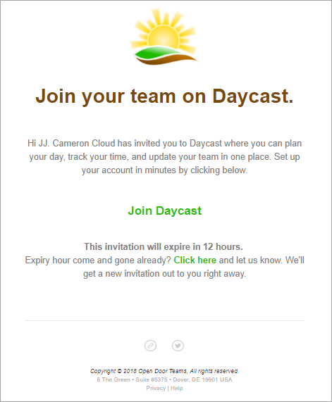 Join your team on Daycast