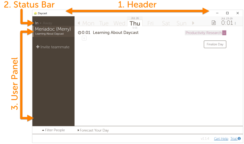 Daycast Time Tracker Day Planner