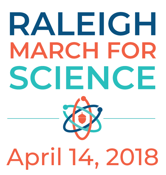 Raleigh March For Science Vertical Logo