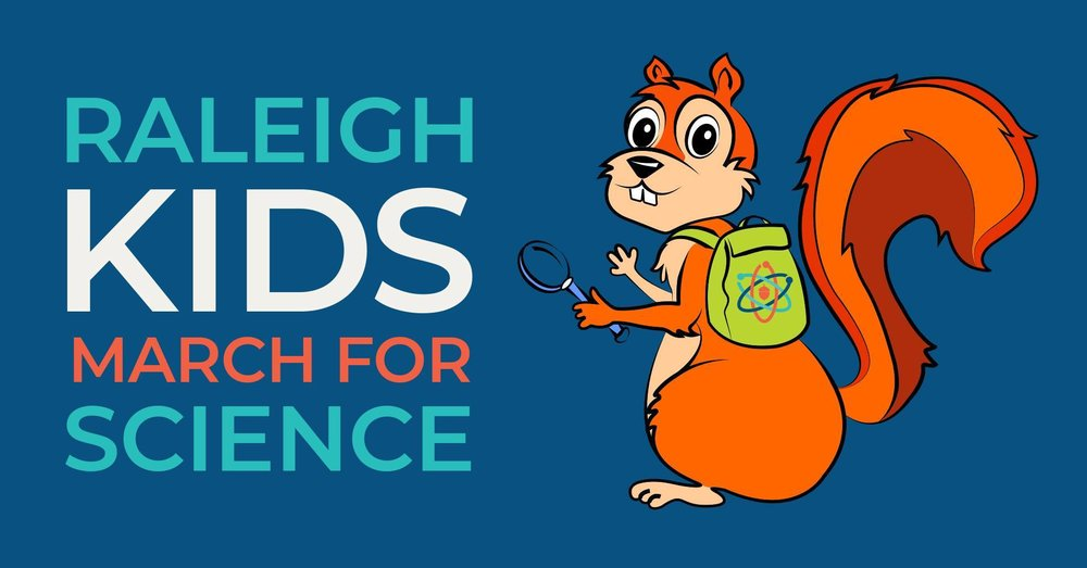 Raleigh Kids for Science logo/ Facebook event graphic