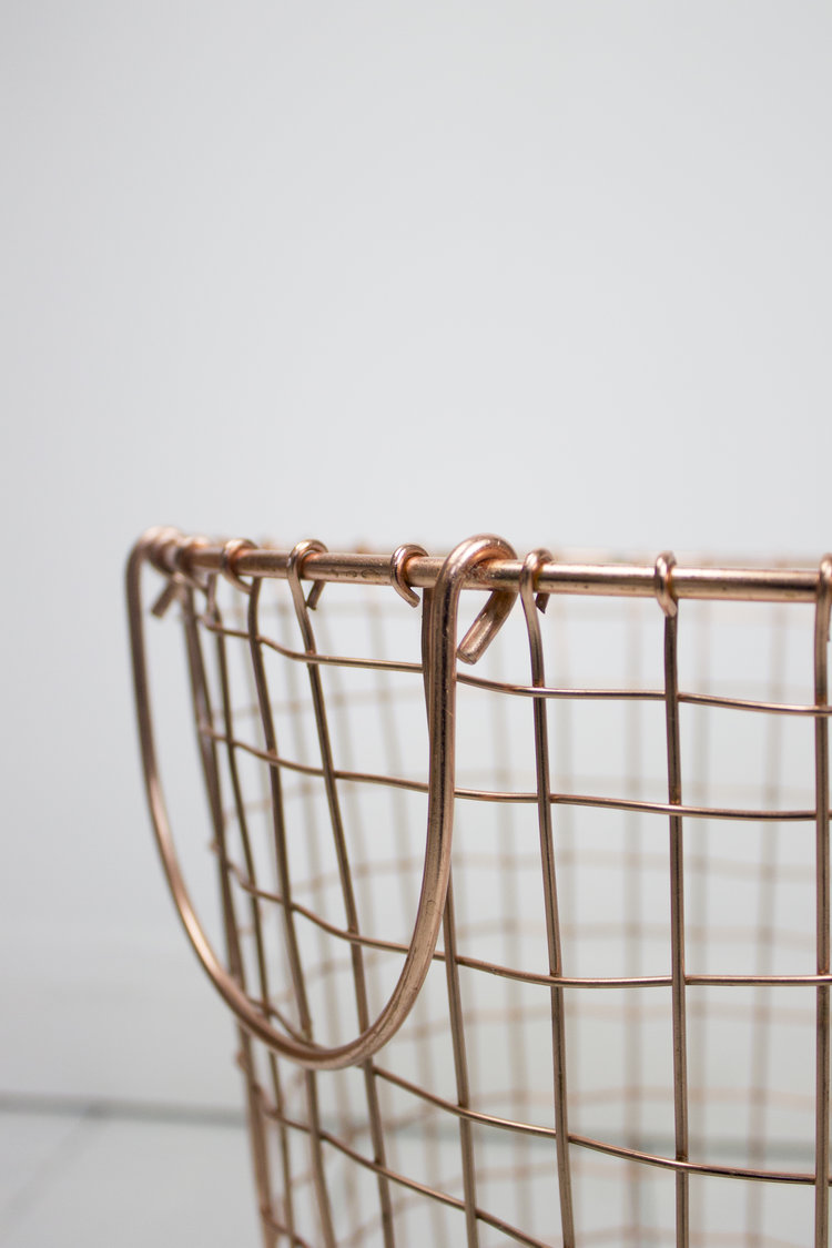 Round Copper Wire Mesh Basket — Naughty Rae