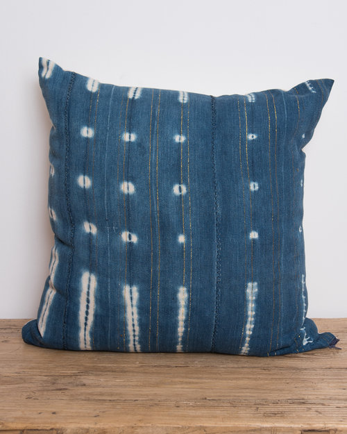 Vintage Mali Indigo Pillowcase Pillows Mali Indigo 002 B Jpg