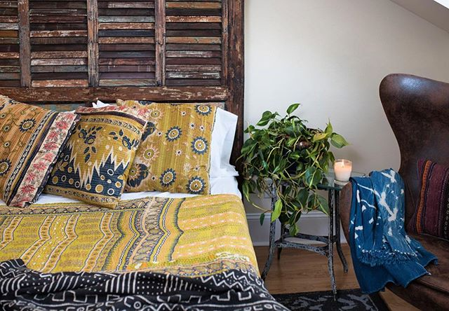 These summer nights call for lighter blankets. We've (literally) got you covered! Come check out a wide selection of blankets from around the world in our retail store in the River Arts District in Asheville! Much love y'all! . . . . . . . . . . #bohemianbedroom #kantha #smallspaceliving #tinyhomes #offthegrid #stylish #blue #asheville #lovewhereyoulive #boho #bohemian #midcenturystyle #midcentury #sixties #seventees #hippie #gypsyfashion #gypset #urbanjungle #bohohome #howiboho #styleit #smile #meditation #bohochic #senseofstyle #kantha #exploreasheville #riverartsdistrict #visitasheville