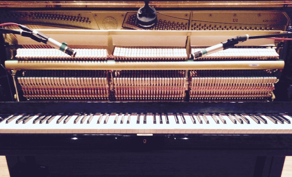 Recording Upright Piano at Humber Studios