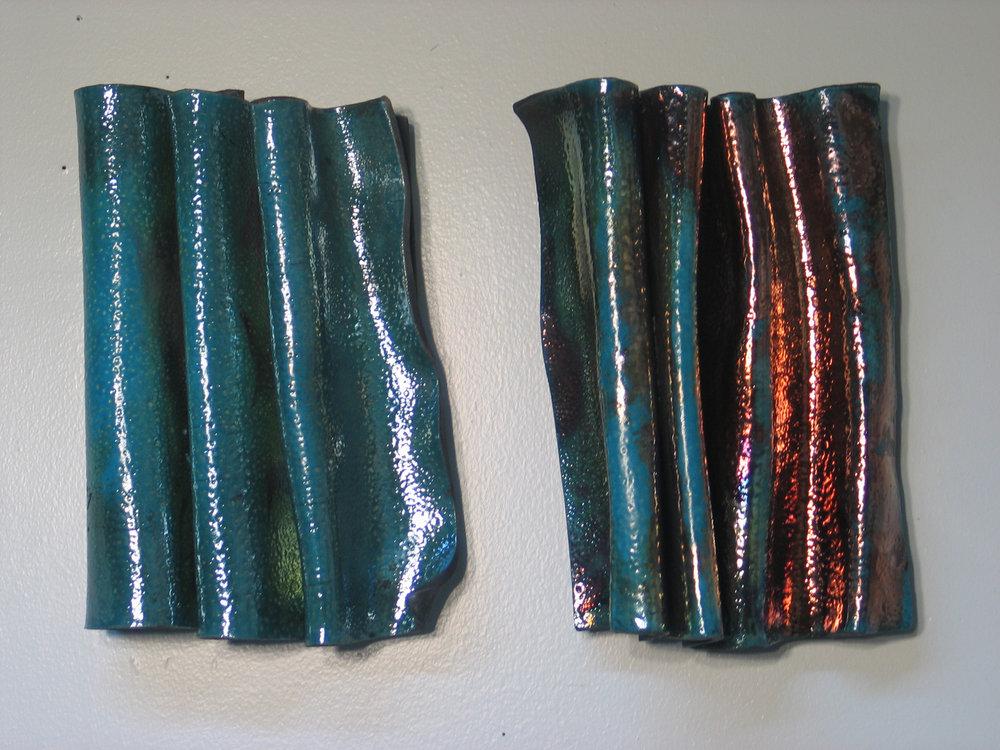 "Turquoise Crinkle 8.5""x12""x5"", 8""x12""x5"""