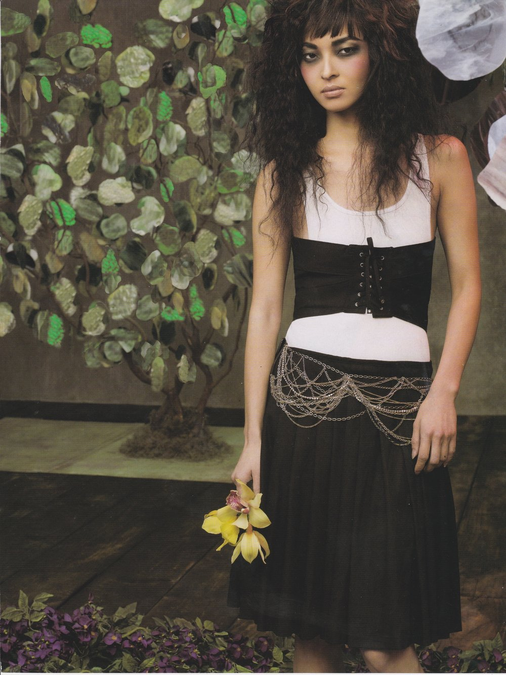 Fashion Shoot - Scenic Art Glass Gem Trees and Floral Wall