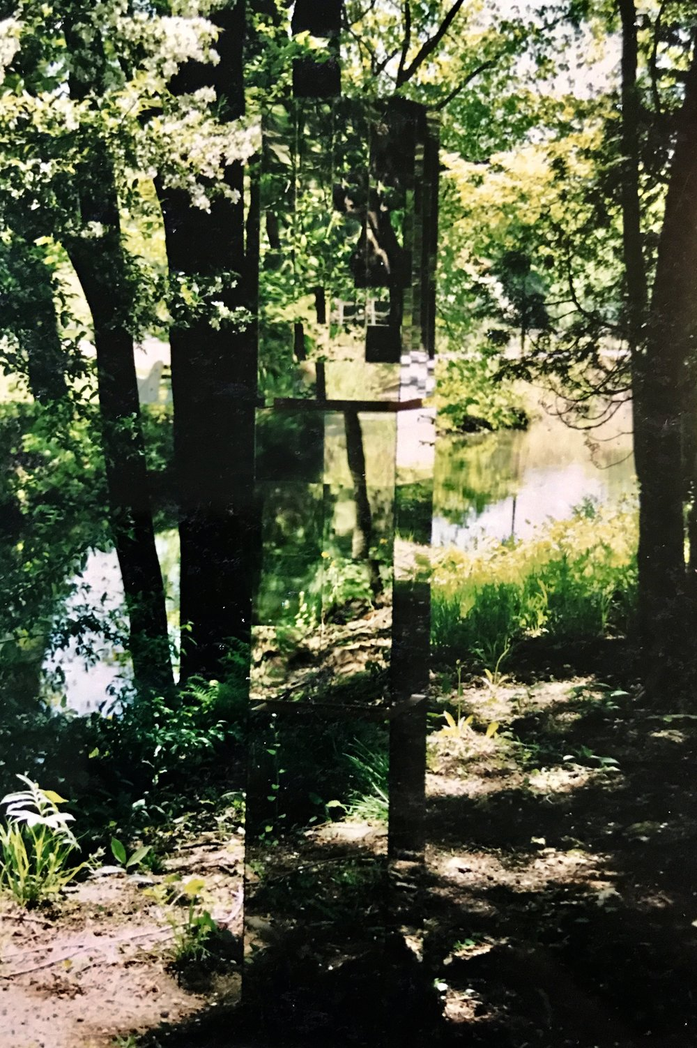 Natural Reflections - Site Specific Installation  1'x1'x7'