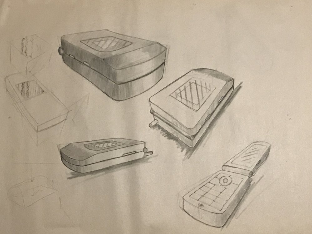 Vanity Phone Sketches (initial sketches)