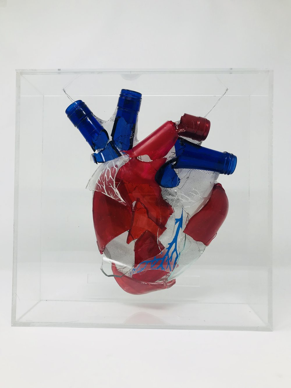 """Broken Hearted  11""""x11""""x4"""""""