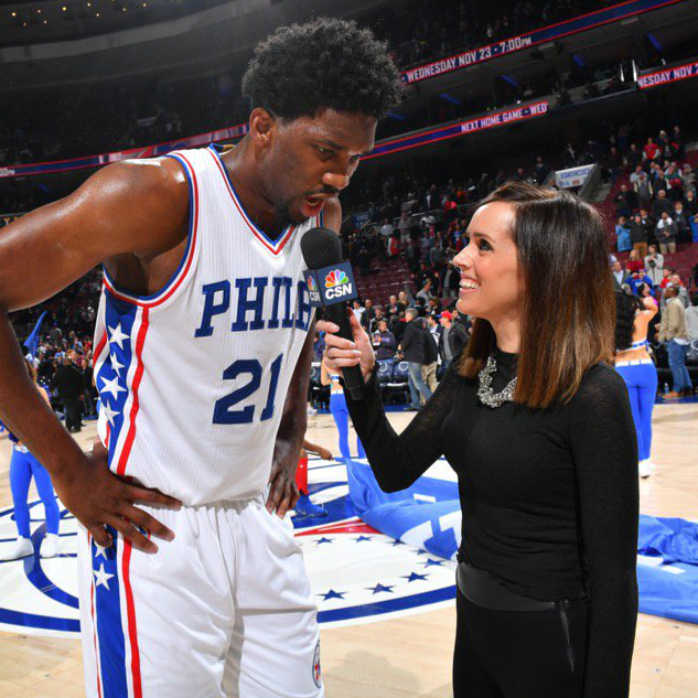 082617 Sixers Sideline Reporter Molly Sullivan French