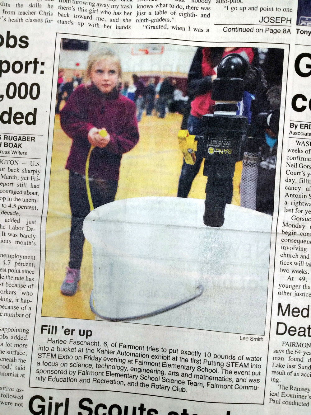 "One young ""Control Challenge"" participant even made the front page of the local paper."
