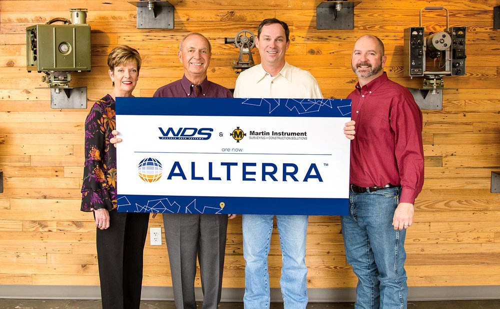 Wendy and Mike Hefer, owners of WDS, join Martin Instrument's President Bobby Hempfling and Vice President Mike Minick in announcing the merger. For more information, visit  allterracentral.com
