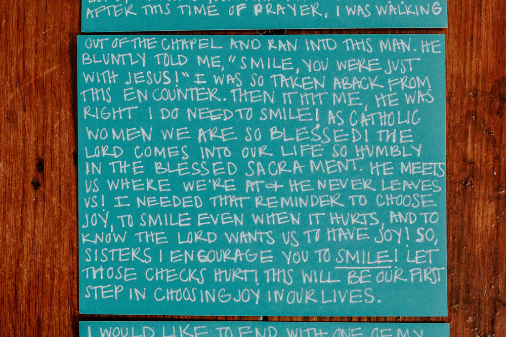 Amy Robertson Letter to Women The Catholic Woman Smiling