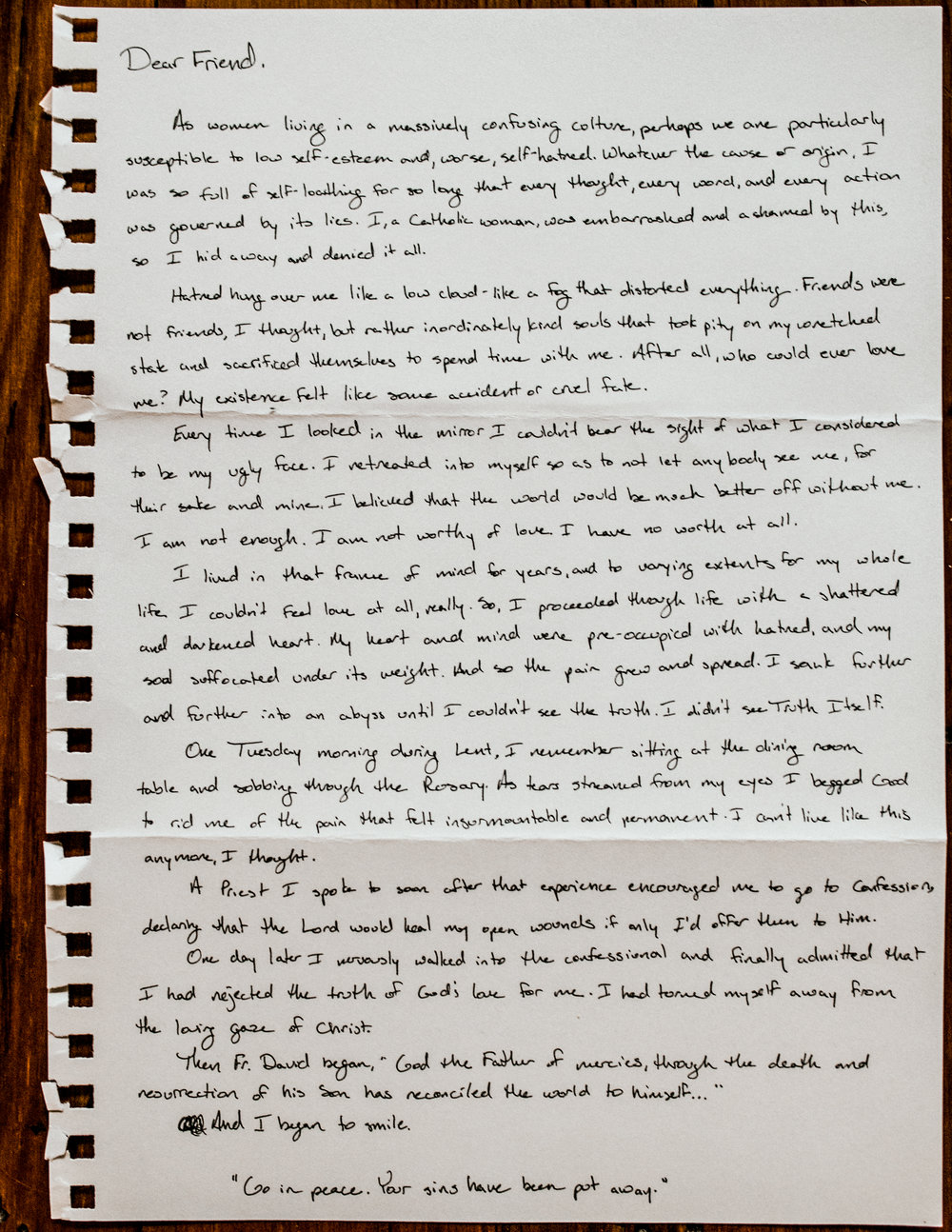 Megan Bowser Letter to Women 1