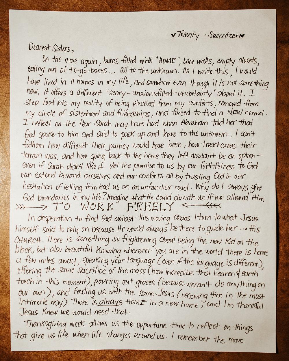 Dennise Santos Letter to Women 1