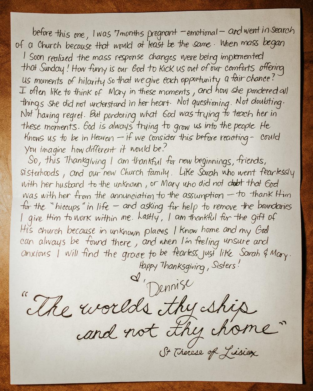 Dennise Santos Letter to Women 2