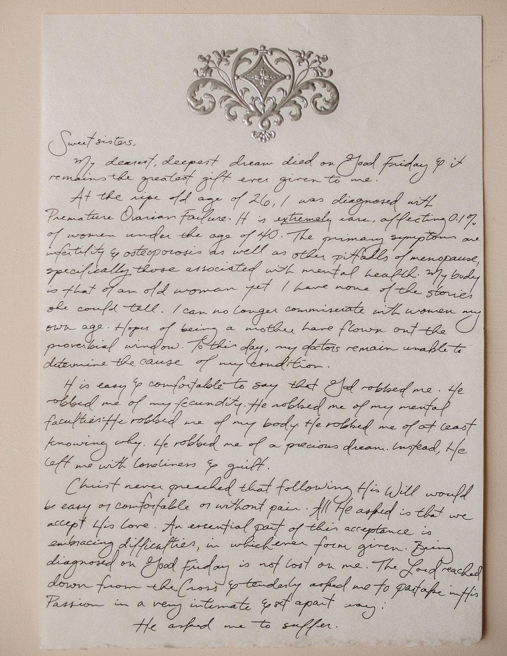 Frances Parsons Letter to Women 1