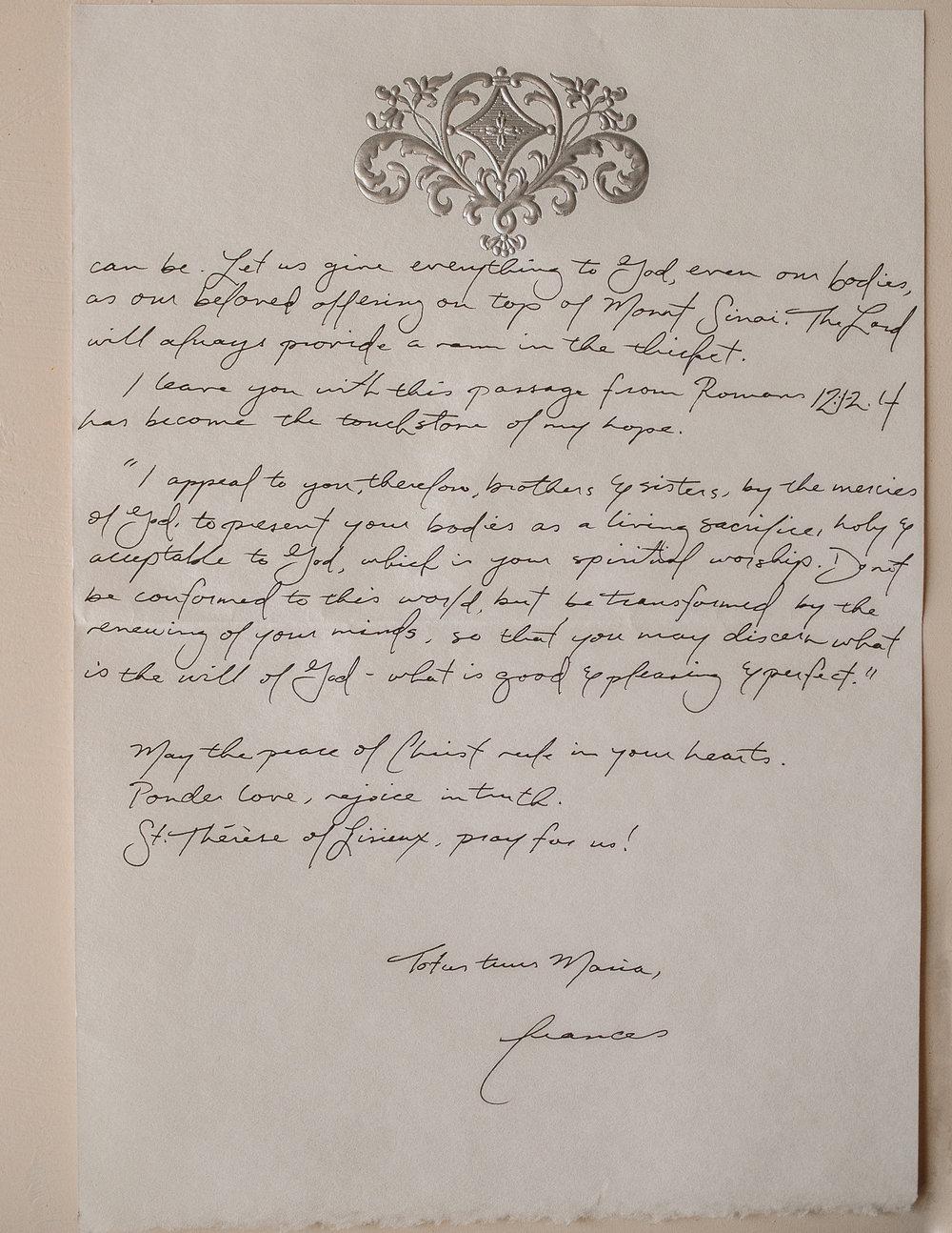 Frances Parsons Letter to Women 3