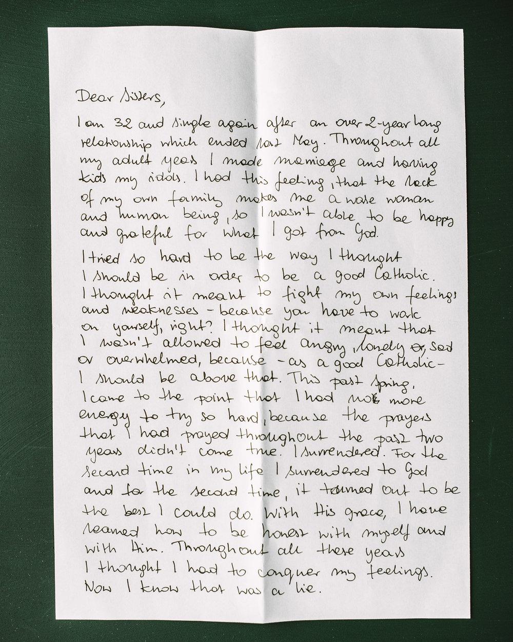 Kasia Malska Letter to Women 1