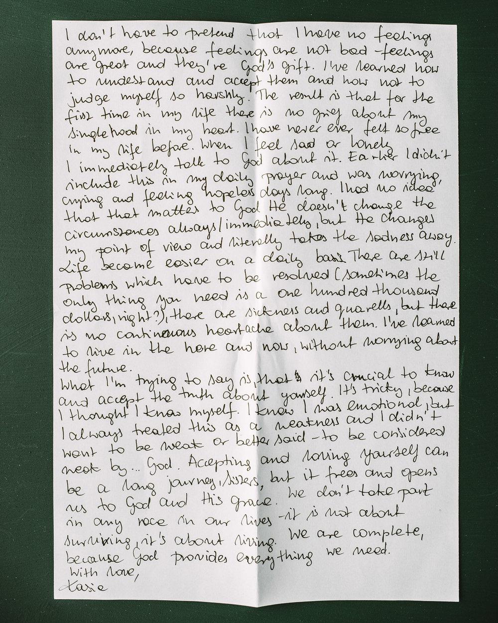 Kasia Malska Letter to Women 2