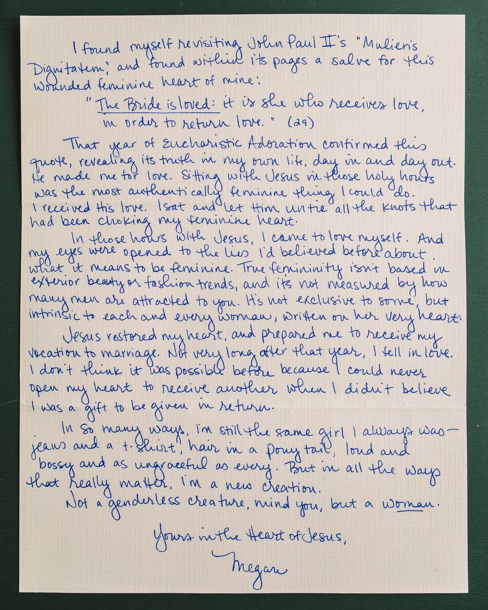 Megan Swaim Letter to Women 2