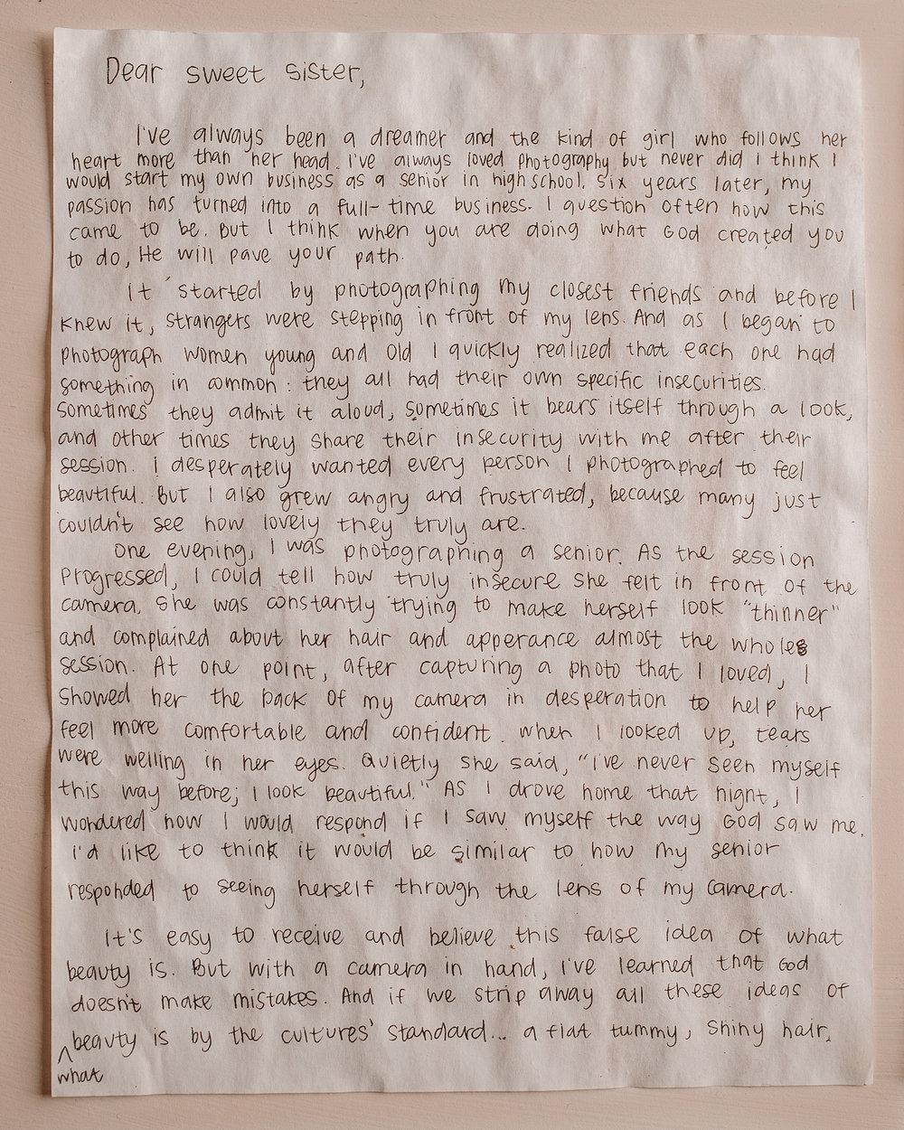 Ali Brassel Letter to Women 1