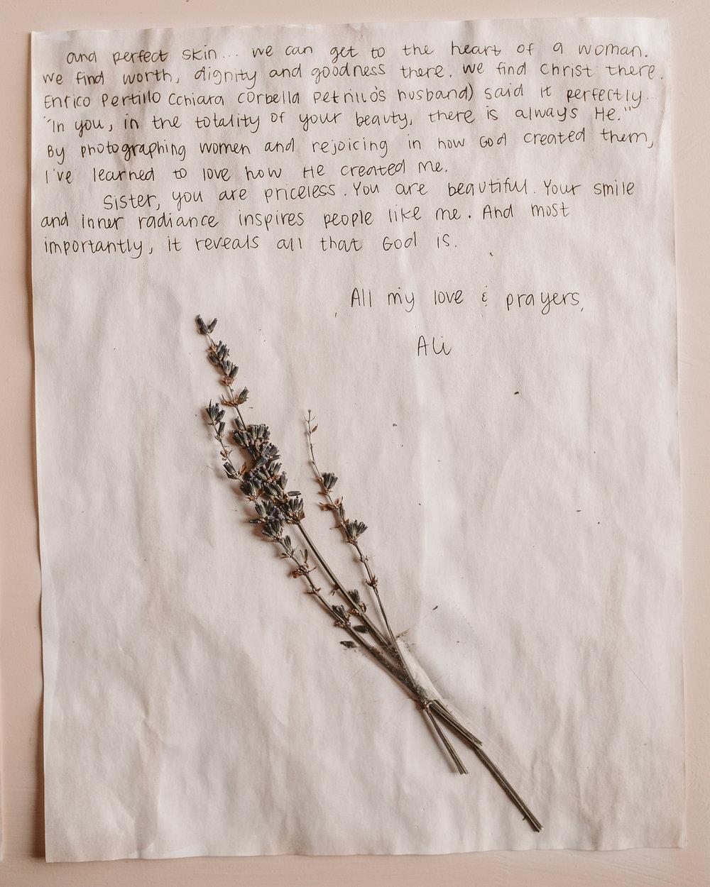 Ali Brassel Letter to Women 2