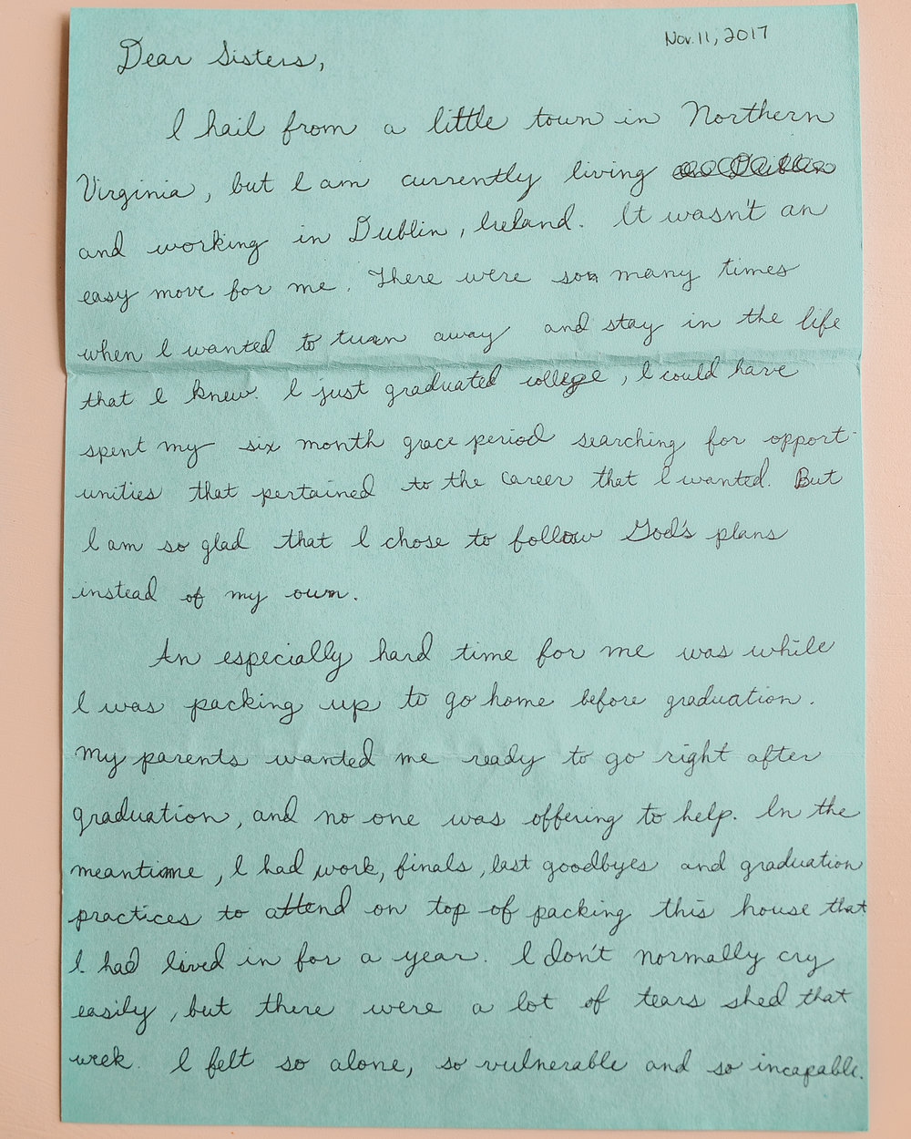 Helen Kelly Letter to Women 1