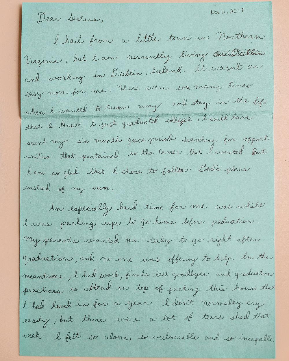 Helen Kelly Letter to Women 1