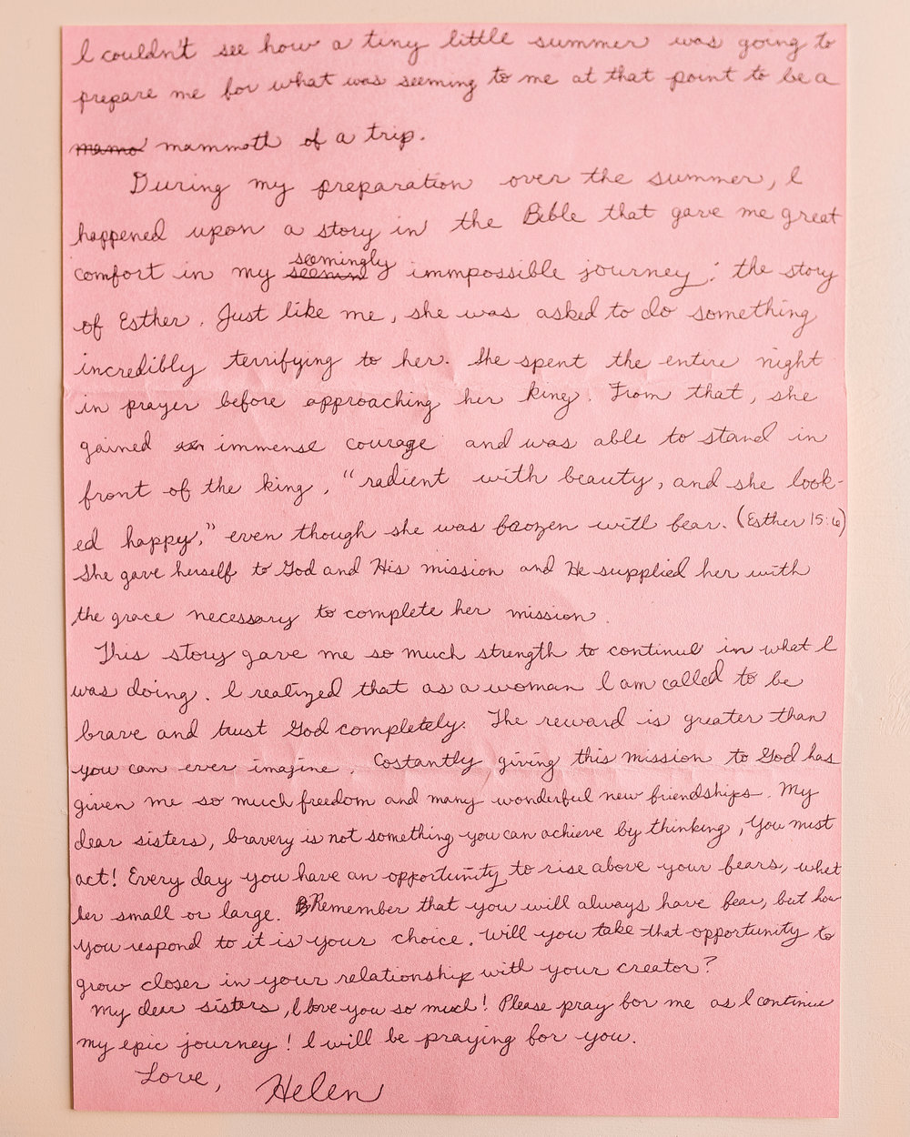 Helen Kelly Letter to Women 2