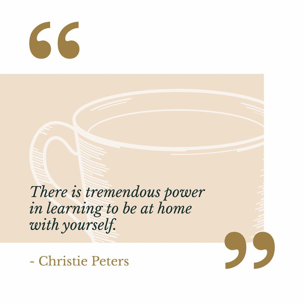 Christie Peters via The Catholic Woman